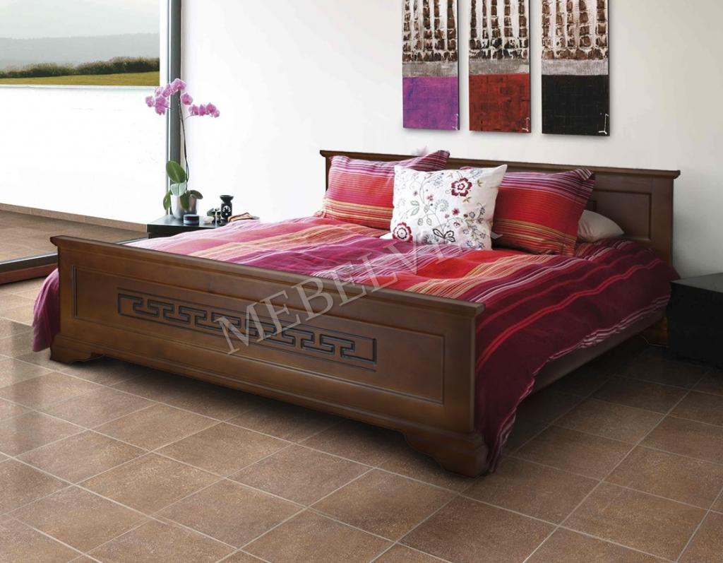 Кровать Венеция из массива дерева