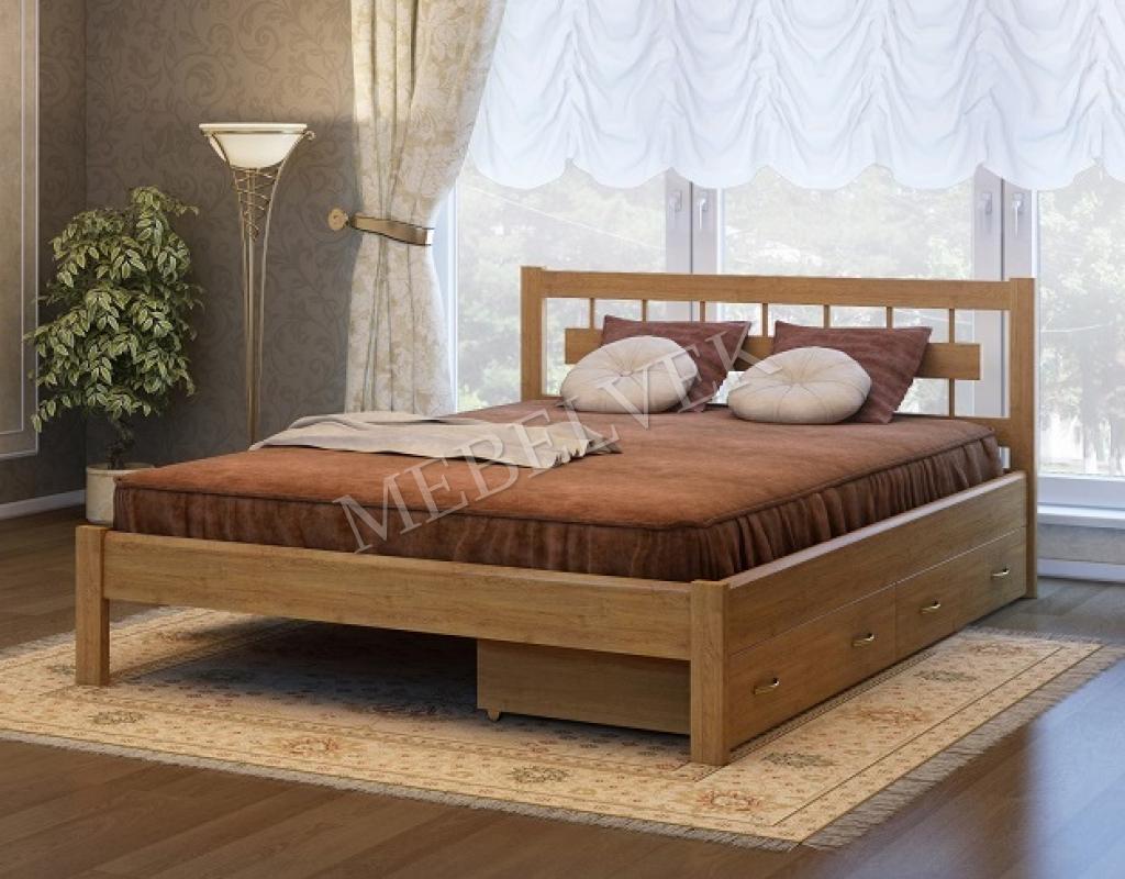 Двуспальная кровать Веста c 2 ящиками
