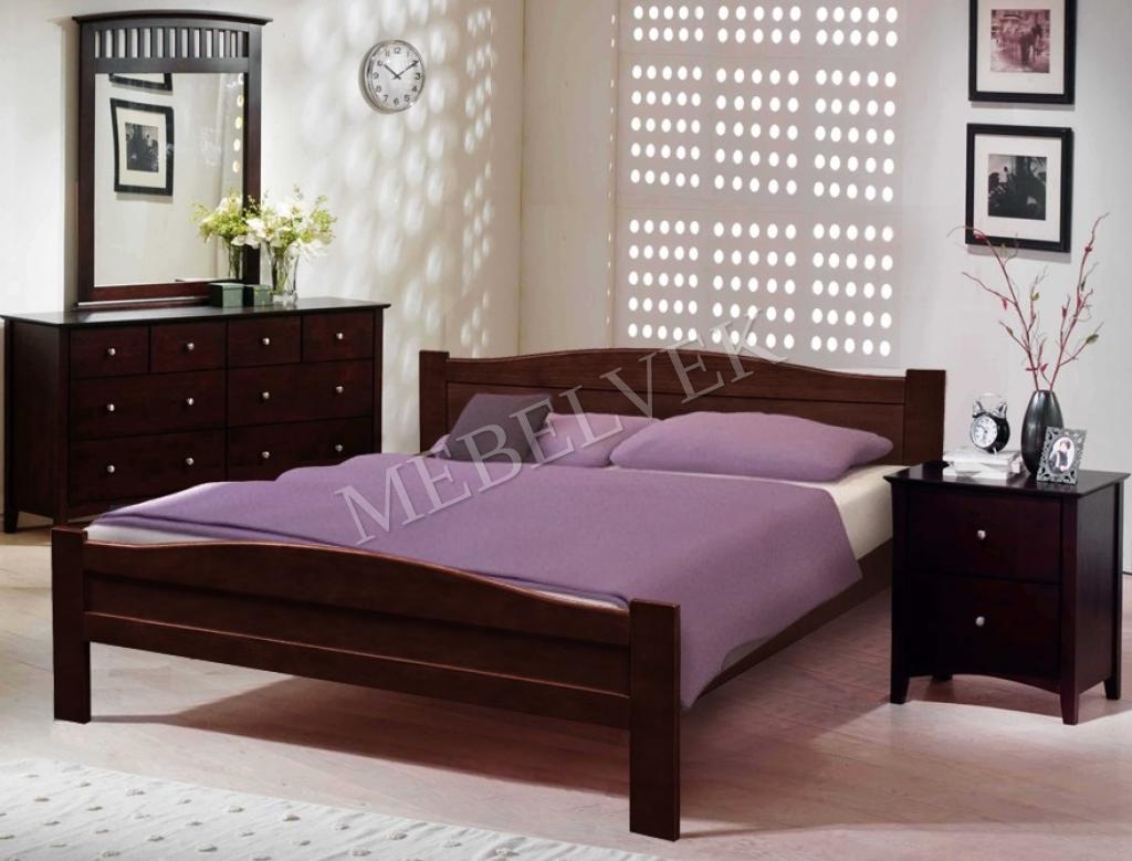 Кровать Виардо из массива дерева