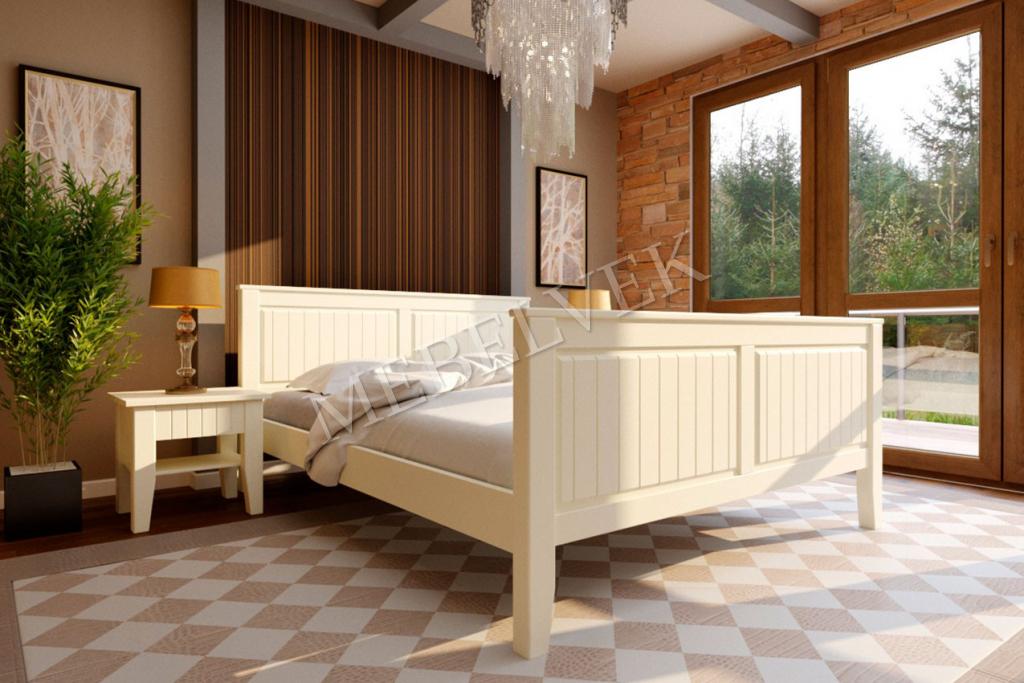Кровать Монтенеро с высоким изножьем из бука