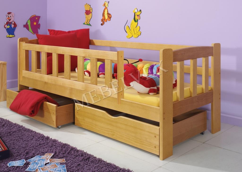 Кровать детская Алые паруса  из массива березы