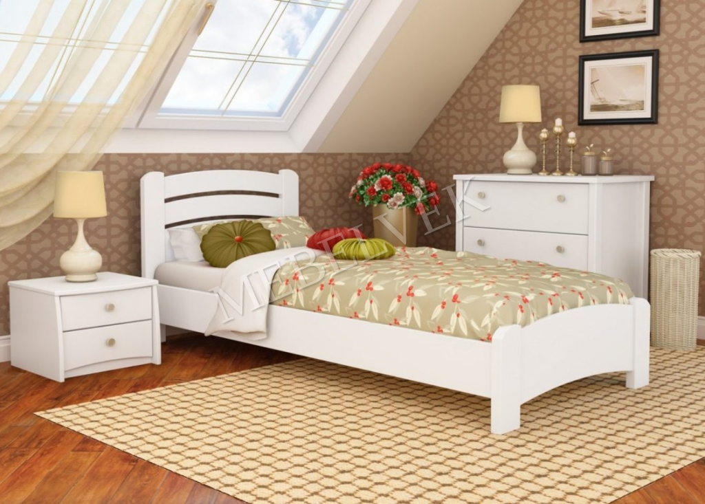 Кровать детская Вишенка из массива березы