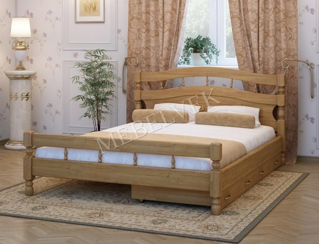 Кровать Киото c 2 ящиками из березы