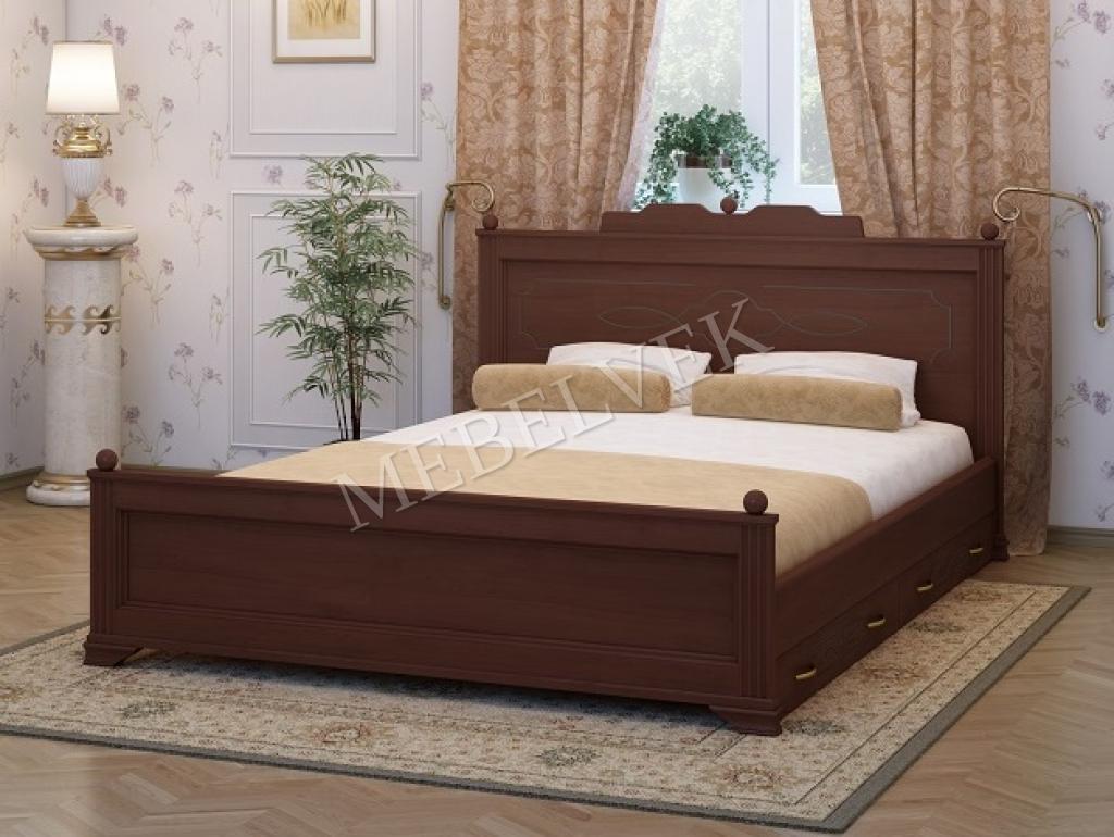 Двуспальная кровать Венера 2 с ящиками