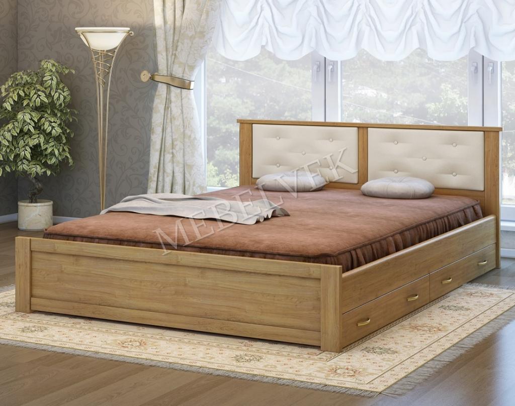 Двуспальная кровать Лоди с 2 ящиками
