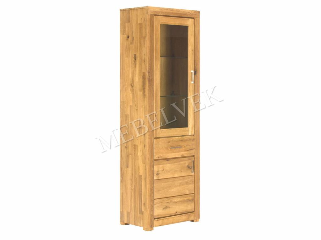 Шкаф Фабриано 1000 с 4 ящиками и стеклянным фасадом
