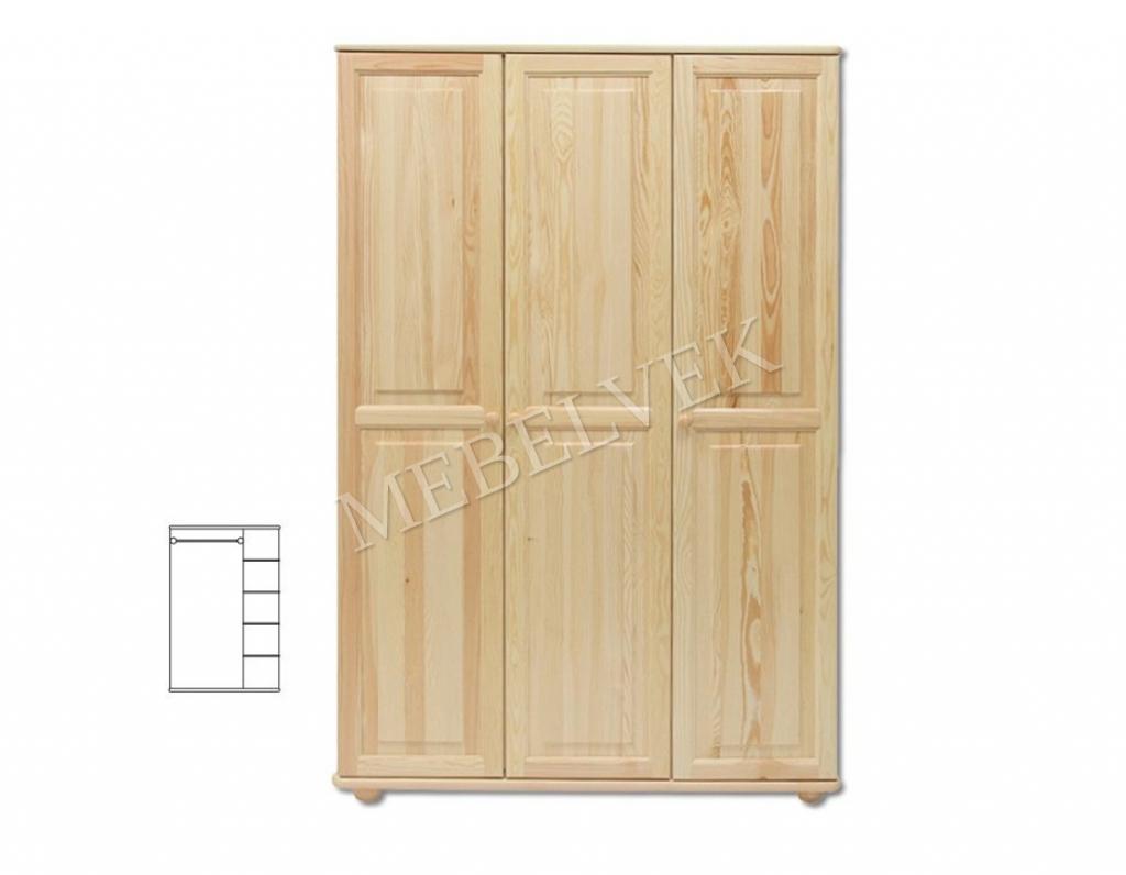Трехстворчатый шкаф для дачи Витязь 105
