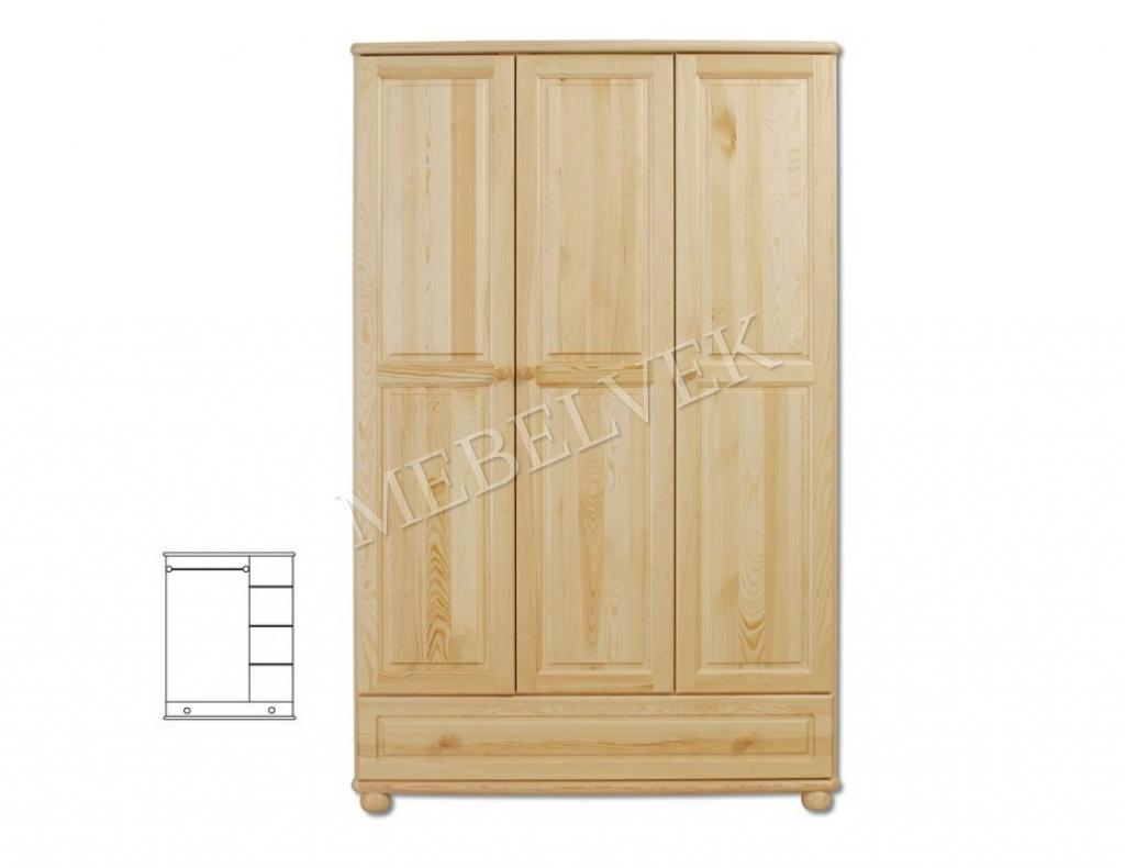 Трехстворчатый шкаф для дачи Витязь 106