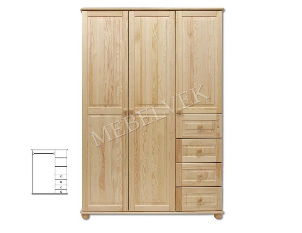 Трехстворчатый шкаф для дачи Витязь 108