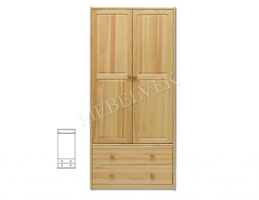 Шкаф для дачи Витязь 111 распашной с 2 нижними ящиками
