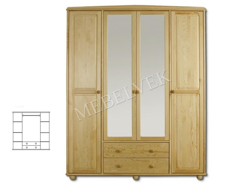 Четырехстворчатый шкаф для дачи Витязь 119