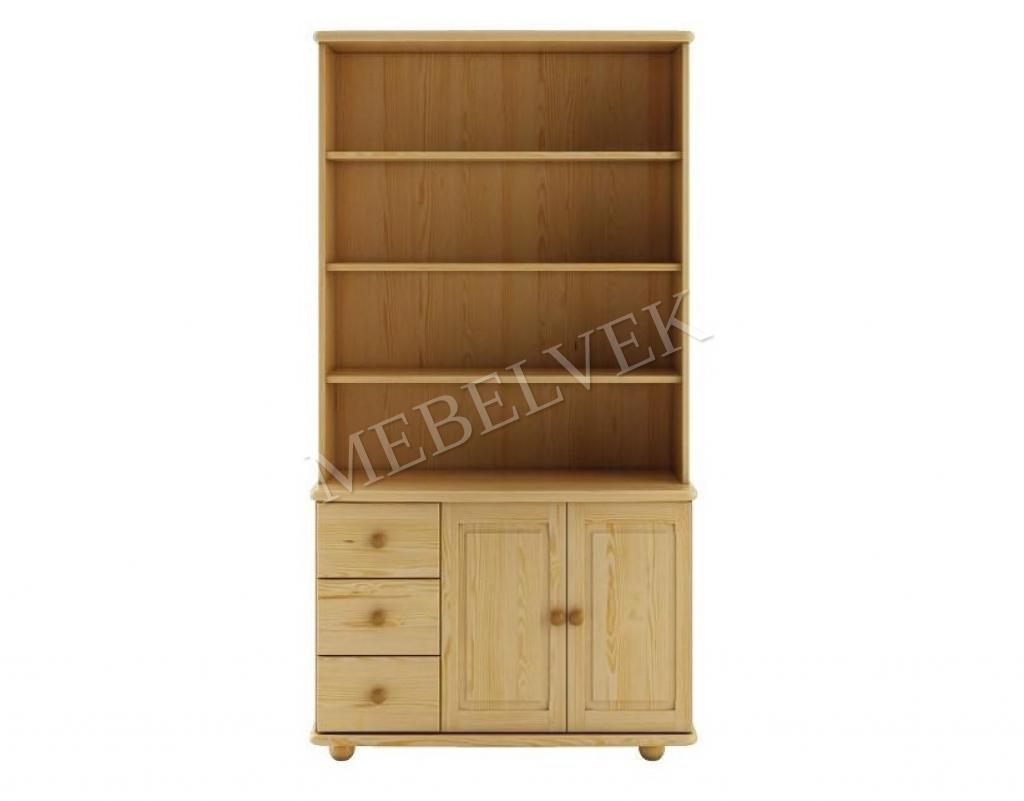 Шкаф книжный №5 с открытыми полками и 3 ящиками