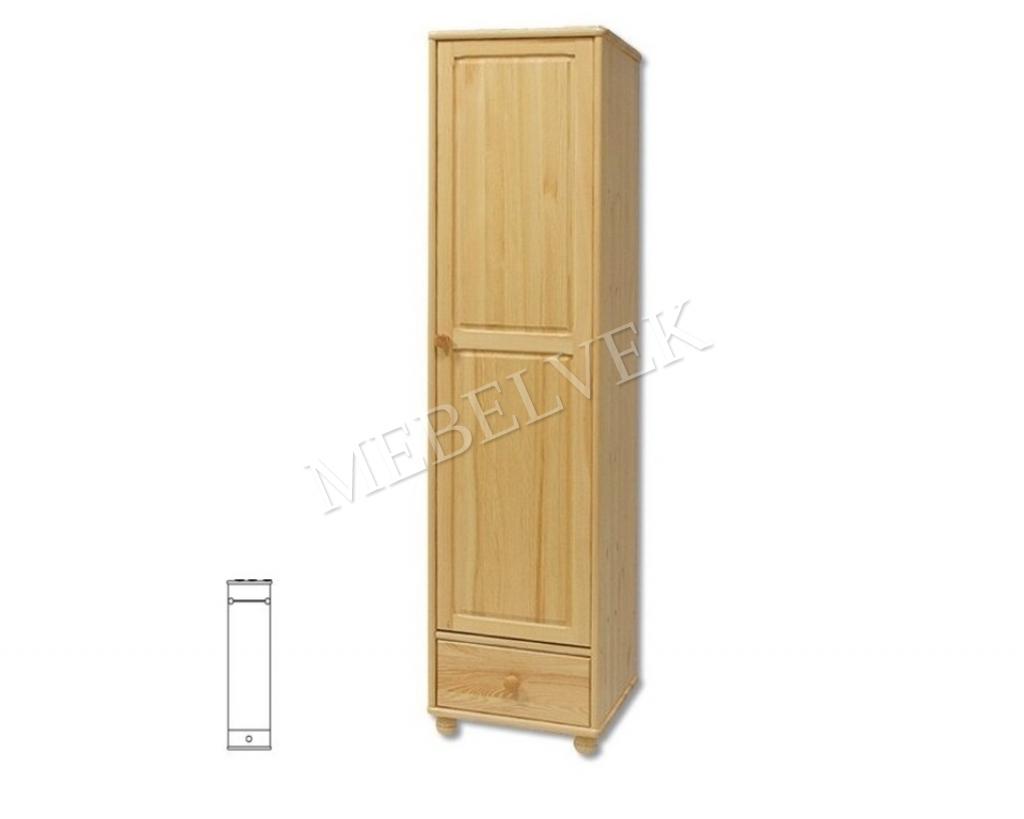 Одностворчатый шкаф для дачи Витязь 124 (материал: массив дерева) с полками