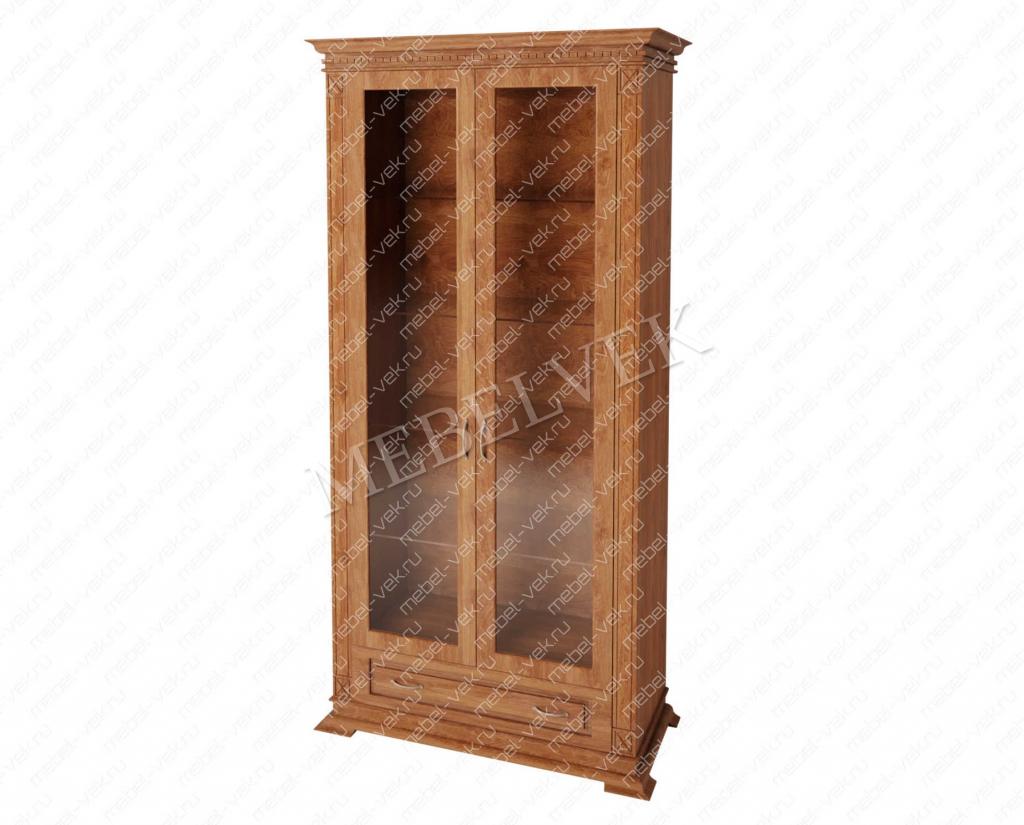 Двухстворчатый шкаф витрина Верди 125