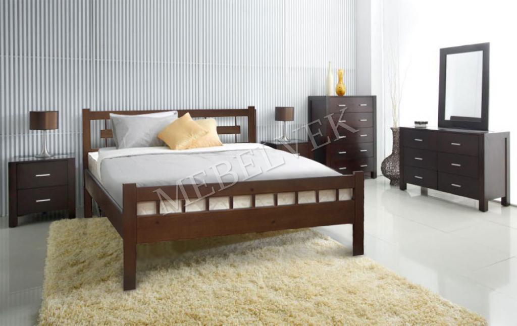 Кровать с матрасом полутороспальная Веста