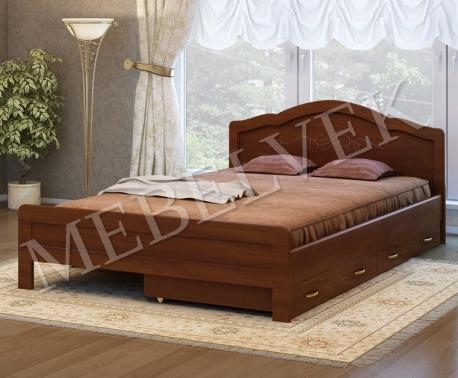 Двуспальная кровать Авола с 2 ящиками