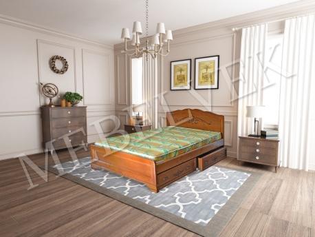 Односпальная кровать Будапешт с ящиками