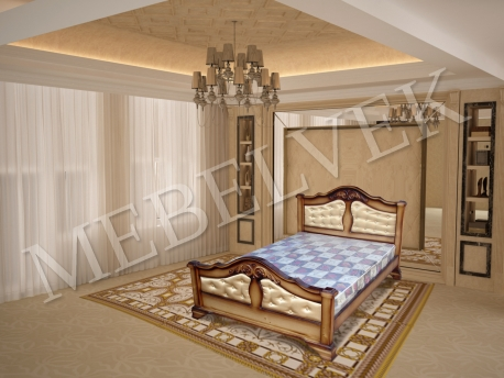 Односпальная кровать  Гермес с мягким изголовьем