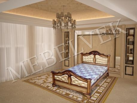 Двуспальная кровать Гермес ткань