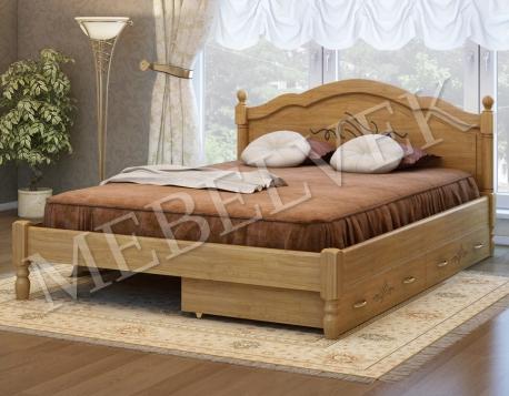 Полутороспальная кровать Кассандра с 2 ящиками