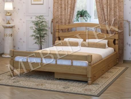 Двуспальная кровать Киото с 2 ящиками