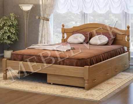 Двуспальная кровать Корсика с 2 ящиками
