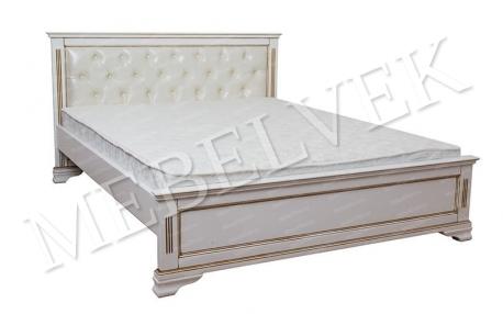Двуспальная кровать Муза с кожей