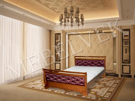 Полутороспальная кровать  Орион с мягким изголовьем