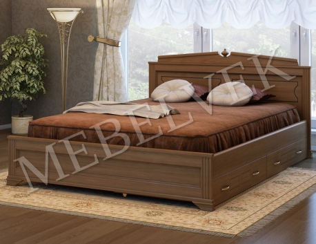 Полутороспальная кровать Рим с 2 ящиками