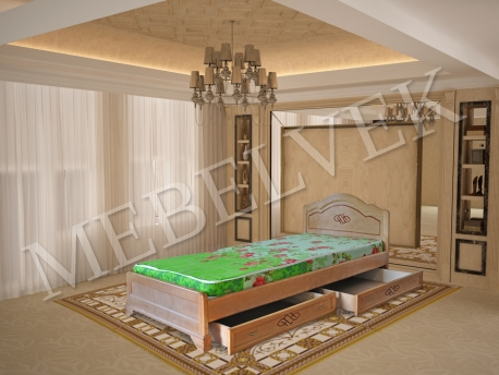 Односпальная кровать Севилья с ящиками