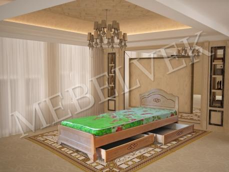 Полутороспальная кровать Севилья с ящиками
