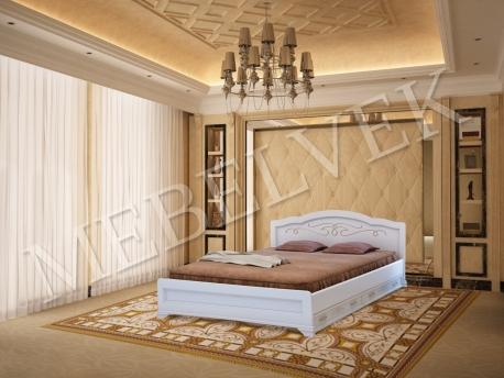 Полутороспальная кровать Торино с 2 ящиками