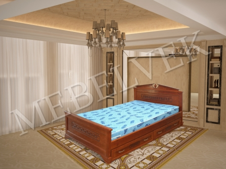Полутороспальная кровать Тоскания с ящиками