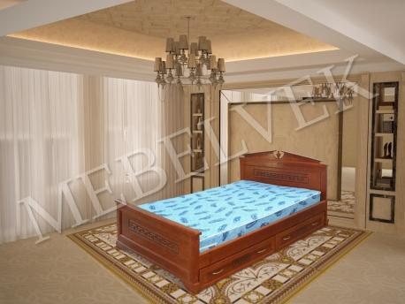 Двуспальная кровать Тоскания с ящиками