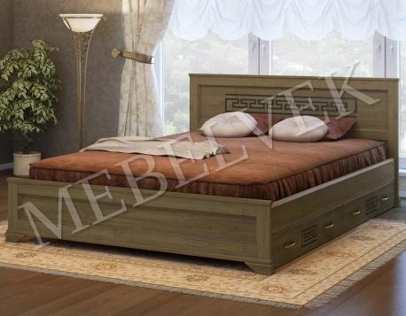 Двуспальная кровать Венеция с 2 ящиками