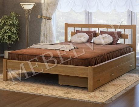 Двуспальная кровать Веста с 2 ящиками