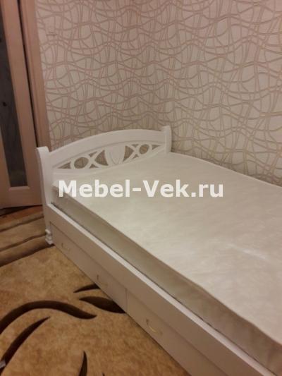 Кровать Анталия с ящиками цвет белый