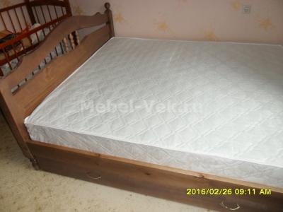 Двуспальная кровать Алушта Венге 2