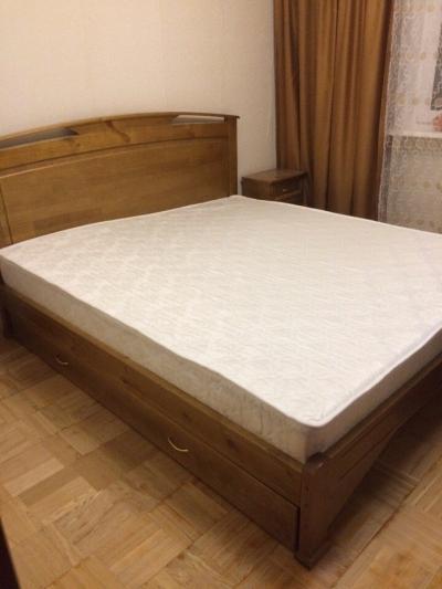 Двуспальная кровать Бордо цвет классический орех 2