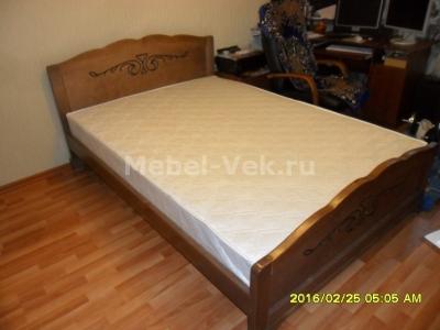 Двуспальная кровать Будапешт Классический орех 2