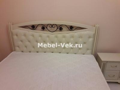 Двуспальная кровать Даллас Слоновая кость
