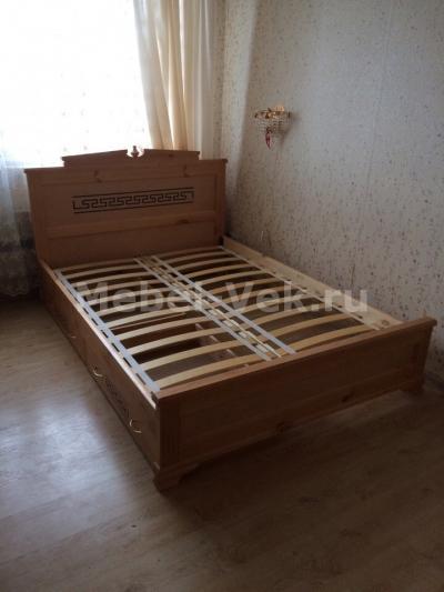 Двуспальная кровать Италия Старый орех 1