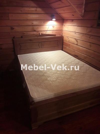 двуспальная кровать Рим старый орех 1