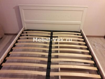 Двуспальная кровать Венеция цвет слоновая кость