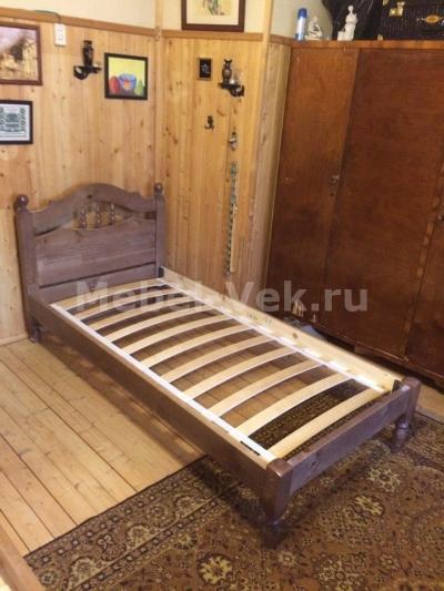 Кровать деревянная Алушта Венге 2