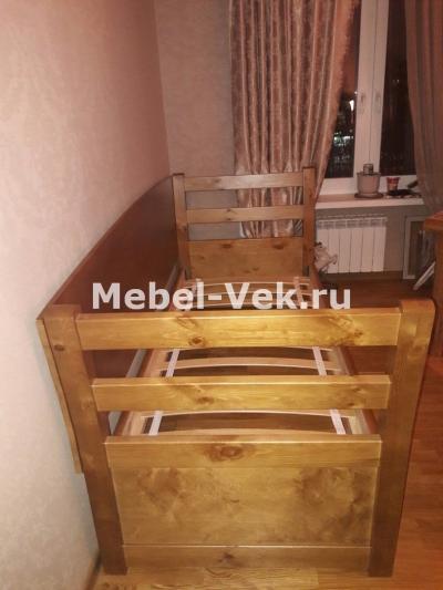 Кровать Мадрид 3 спинки классический орех 2