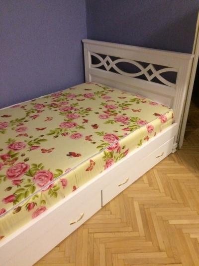 Односпальная кровать Муза Цвет белый