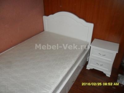 Односпальная кровать Торино Белый