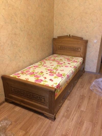 Односпальная кровать Тоскания с ящ классический орех 2