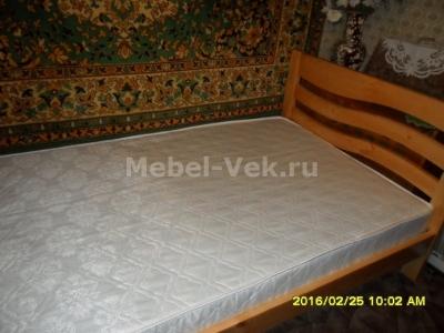 Полутороспальная кровать Берн старый орех 1